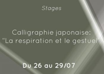 stage calligraphie japonaise
